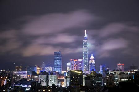 city at night: Taipei city night view