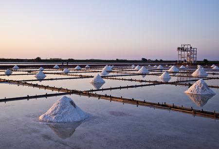 Taiwan Salt pan scenery