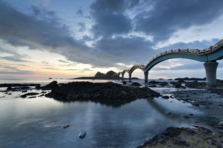 The coast beautiful sunrise in Taiwan Sanxiantai Reklamní fotografie