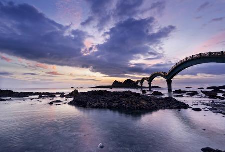 The coast beautiful sunrise in Taiwan Sanxiantai Zdjęcie Seryjne