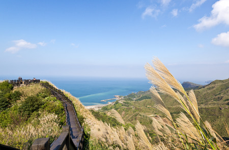 Autumn scenery of the coast of Taiwan 스톡 콘텐츠