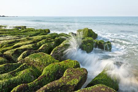 Stone Trench van Taiwan Laomei Coast Stockfoto