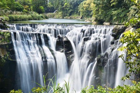 Beautiful waterfall in Taiwan Shifen