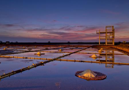 Salt pan scenery in Tainan, Taiwan Фото со стока - 77310513