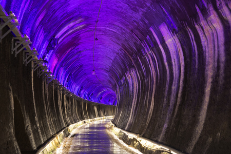 wei: Miaoli, Taiwan, May 8, 2017, Gong Wei Syria tunnel The tunnel in Miaoli is a new tourist attraction converted by an abandoned railway cave