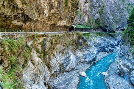 Landschaft der Taroko-Schlucht. Taroko-Nationalpark, Hualien. Dies ist eine berühmte Attraktion in Taiwan