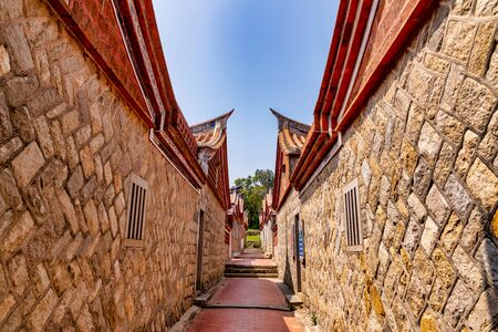 Shanhou Folk Culture Village in Kinmen, Taiwan-It's Kinmen's most iconic and best-preserved historic village. 免版税图像 - 132354462