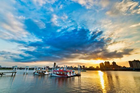 Sunset of Riverside at Taipei City,Taiwan