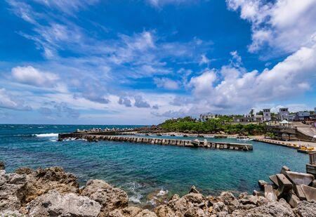Scenery of the coast at Xiao Liuqiu in Pingtung , Taiwan