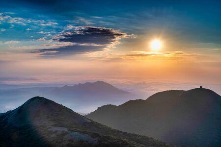 Sunset scenery of Yangmingshan , in Taipei city, Taiwan