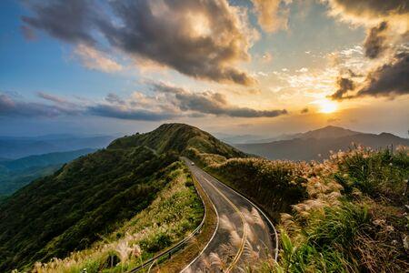 Beautiful sunset scenery of mountains in New Taipei City,Taiwan Zdjęcie Seryjne