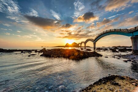 Sunrise of coast at Sanxiantai ,Taitung Taiwan