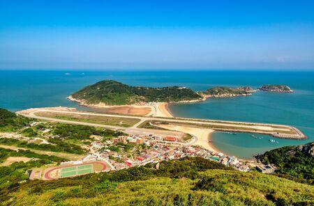 Scenery of Beigan Airstrip at Matsu, Taiwan