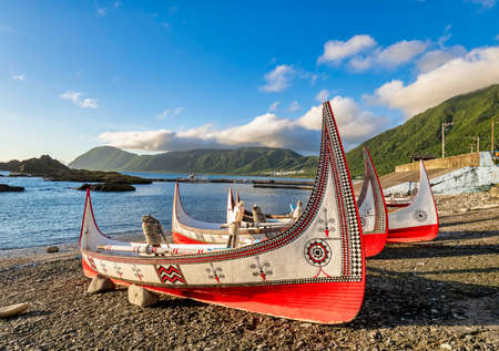 Beautiful carving boat at Lanyu(Orchid Island), Taitung,Taiwan