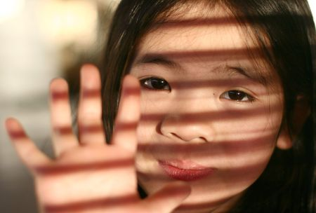 plenitude:  close up of young girl child from china