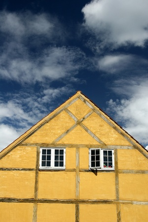 housing styles: Typical house in denmark a sunny summer
