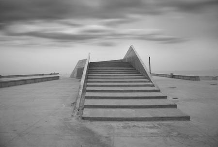 concrete stairway on the seaside in copenhagen denmark Stock Photo