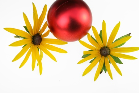 christmas decorations , balls and other decorations in denmark photo