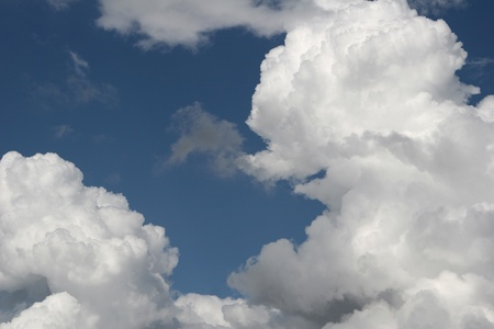 blue sky with nice cloud formation photo