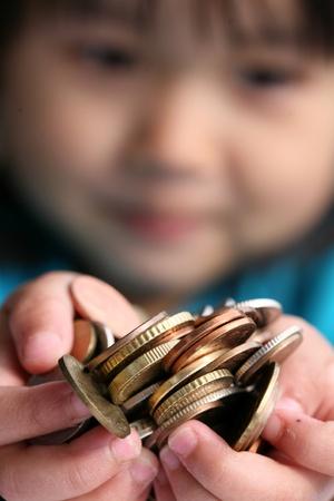 money box: money