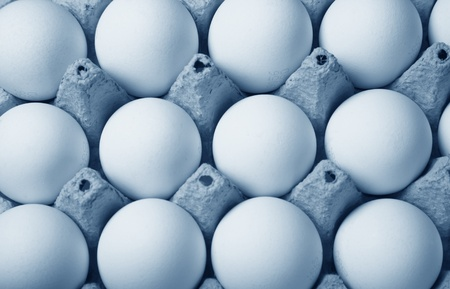symetry: Several eggs together in a box