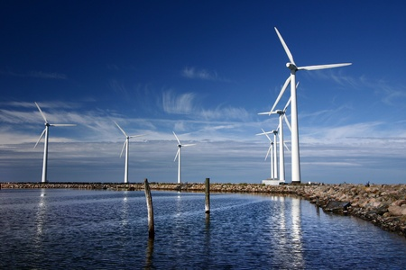 windmolens: windmolens in Denemarken Stockfoto