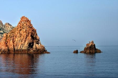 La réserve naturelle de Scandola en Corse France Banque d'images