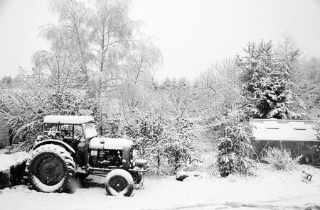 デンマークの田舎の冬 写真素材