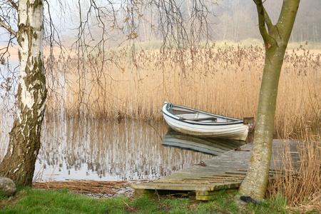Bateaux sur un lac au Danemark