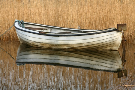 row boat: Boats on a lake in denmark Stock Photo