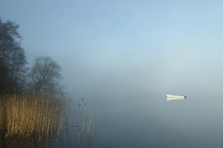 Boats on a lake in denmark photo