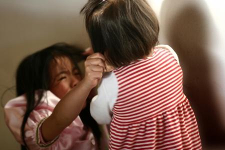 lutte des enfants