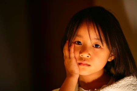 plenitude: cute chinese girl portrait in the sun