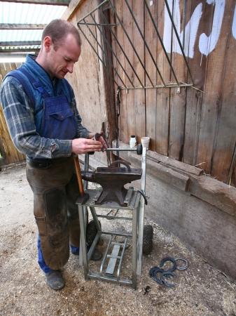 terrestrial mammals: Blacksmith at work in denmark north from copenhagen