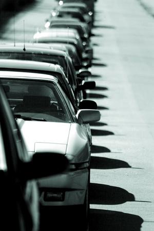 traffic on a street in denmark, Editorial