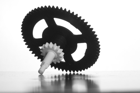 Gears on white background photo