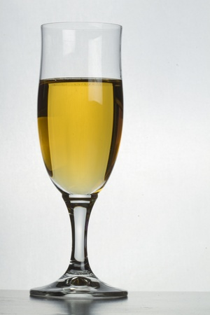 spirituous beverages: Glass of vine on white background Stock Photo