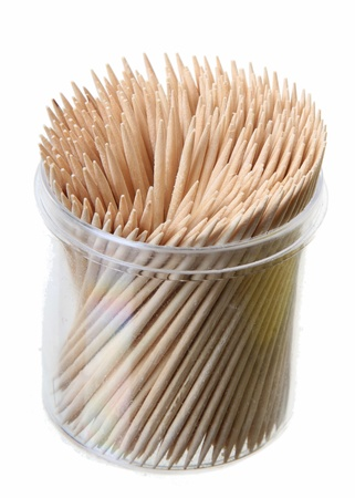 toothpick on white background photo