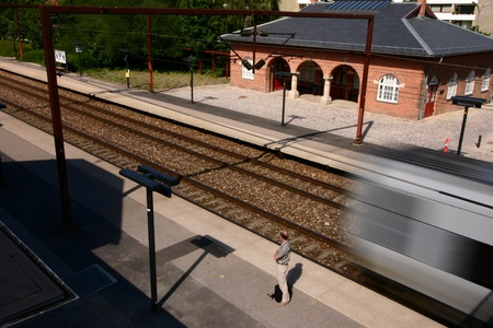 trains, stations, passenger and travellers photo