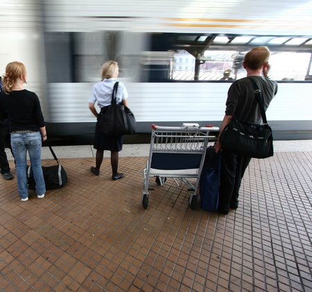 buisiness: trains, stations, passenger and travellers  in Copenhagen