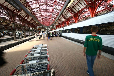 buiseness: trains, stations, passenger and travellers  in Copenhagen