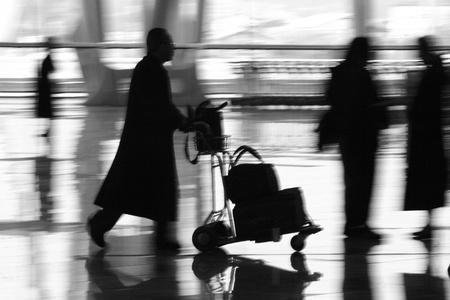 Airport in Paris Charles de Gaulle