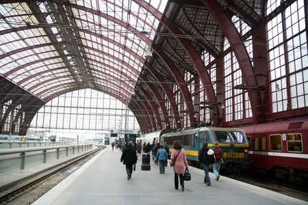 buisiness: the train station of anvers in belgium