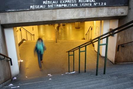 hi speed: Metro in Paris Editorial