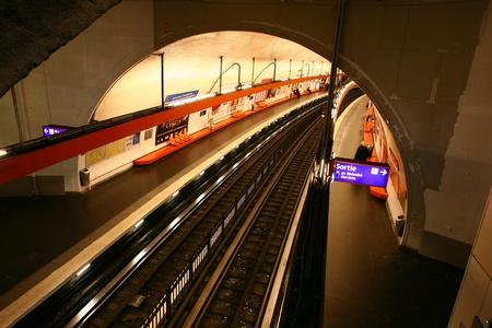 hi speed: Metro in Paris Stock Photo