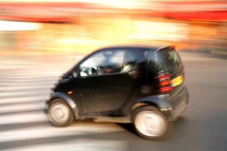 panning shot: Traffic in paris shot  with low shutter speed (panning)
