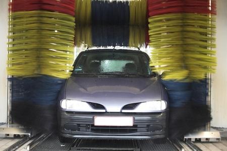 auto lavado: lavado de autos Foto de archivo