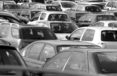 Cars   on a parking Stock Photo