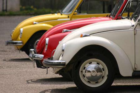 old technology: Close up di vecchie automobili d'epoca di raccolta