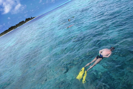 Sceneries from the maldivian islands Stock Photo - 11950255